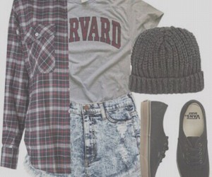 outfit, vans, and fashion image