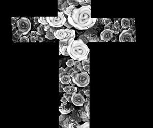 cross and flower image