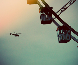 aeroplane, ballons, and beautiful place image