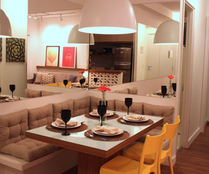 apartment and dining room image