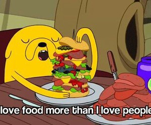 food, people, and adventure time image
