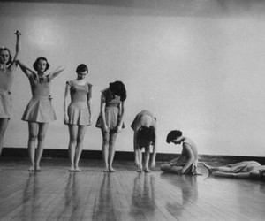 black and white, ballet, and dance image