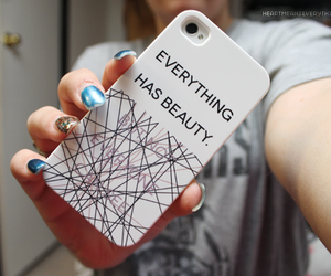 beauty, quote, and case image