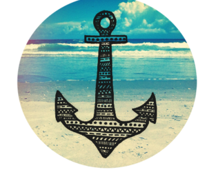 beach, anchor, and summer image