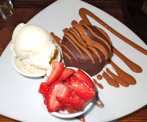 cake, chocolate, and ice cream image