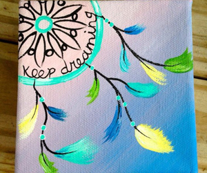 art, dreamcatcher, and painting image