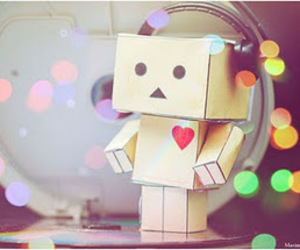 danbo, cute, and music image