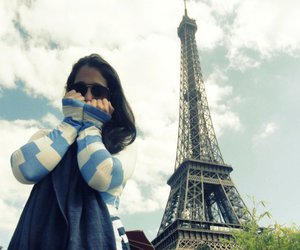 eiffel tower, girl, and photography image