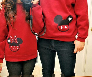 couple, style, and christmas sweater image