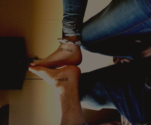 inked, couple, and foot image