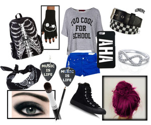 classy, fashion, and emo outfit image