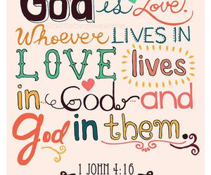 god, love, and bible image