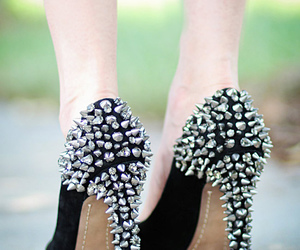 high heels, shoes, and spikes image