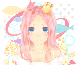 anime, anime girl, and crown image