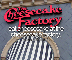 bucketlist, bucket list, and cheesecake image