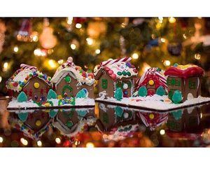 candy, christmas, and ginger bread image