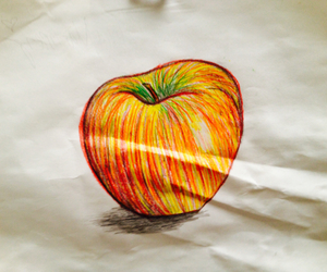 apple, colorful, and drawing image