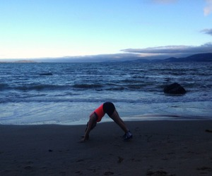 beach, workout, and fitness image