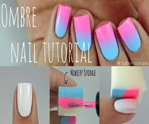 nails, ombre, and tutorial image