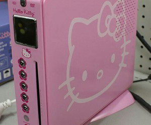 pink, hello kitty, and grunge image