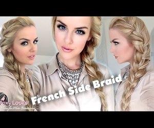 hair, tutorial, and french said braid image