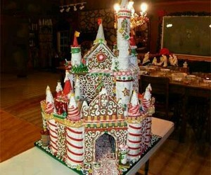 candy, castle, and christmas image