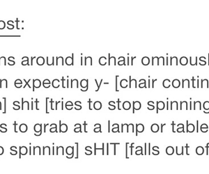 chair, evil, and fail image