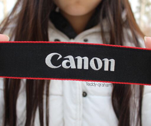 black, canon, and red image