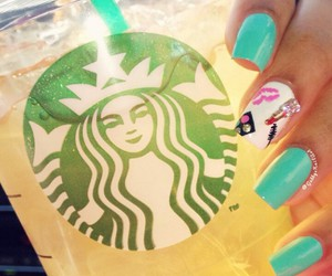 beauty, nails, and starbucks image