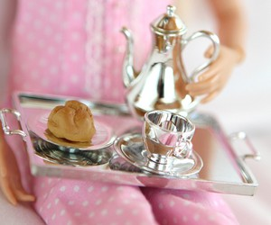 barbie, minature, and platter image