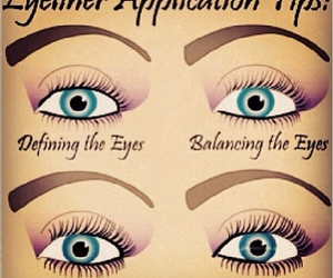eyeliner, makeup, and tips image