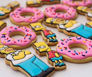 Cookies, donuts, and simpsons image
