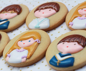 Cookies, pastel, and pink image