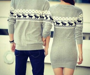 couples, sweater weather, and sweet image