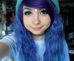 alt girl, Piercings, and colorfull hair image