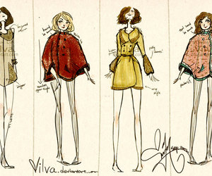 capes, coats, and fashion image