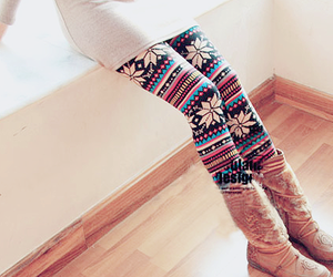 boots, leggings, and winter image