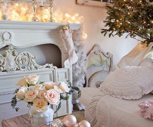 christmas and shabby chic image