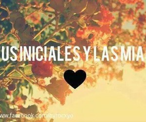 love and iniciales image