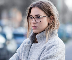 fashion, glasses, and coat image