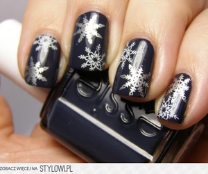 nails, snow, and snowflake image