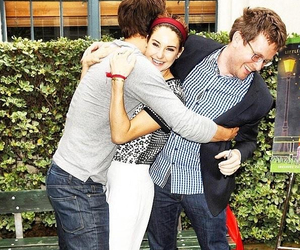 john green, ansel elgort, and Shailene Woodley image
