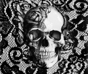 skull and lace image
