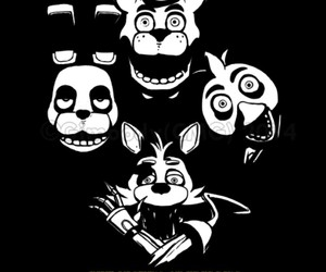 Chica, creepy, and Freddy image