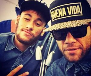 dani alves, Barcelona, and neymar image