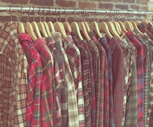 flannel, clothes, and shirt image