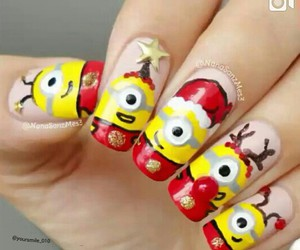 nails, minions, and christmas image