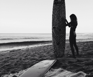 ocean#, black&white#, and surfboard# image