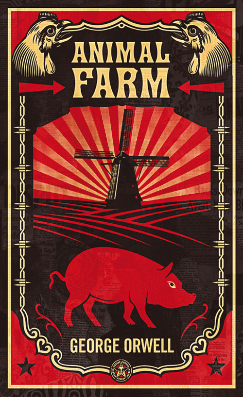 animal farm, book, and orwell image