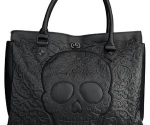bag, black, and lether image